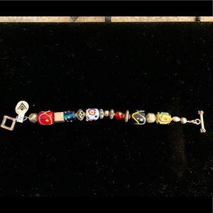 SILPADA- 925 Glass Bead Bracelet B0871